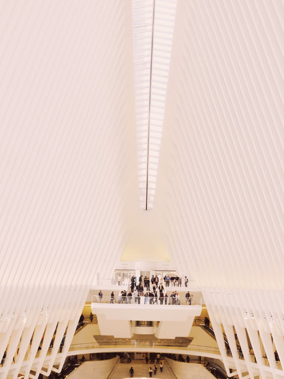 most instagrammable places in NYC oculus world trade center transit hub