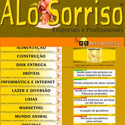 Guia comercial on-line Alô Sorriso - Sorriso na Web