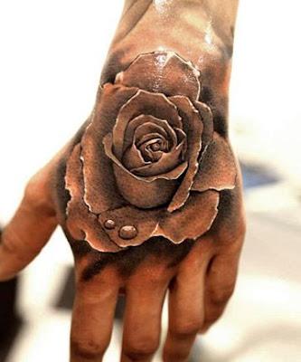 Tato 3D Bunga Mawar