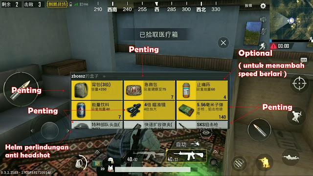 Cara bermain PUBG Mobile agar mudah dapat chicken dinner