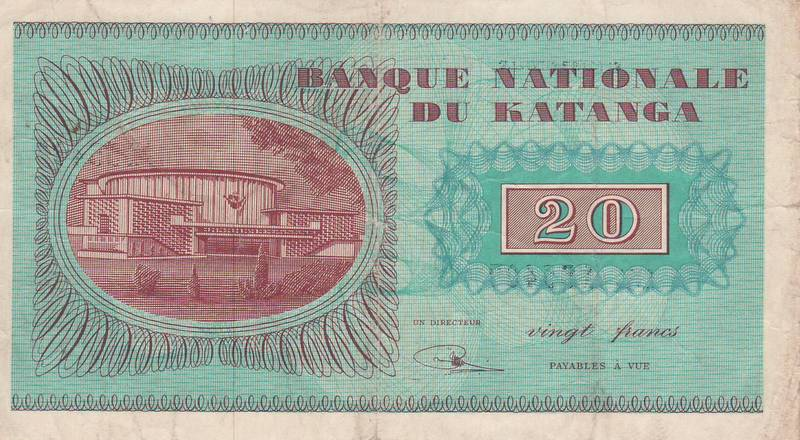 KATANGA Banknotes: Moise Tshombe and the Short Lived Breakaway