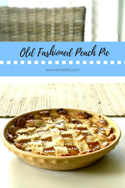 Old Fashioned Peach Pie #tastecreations