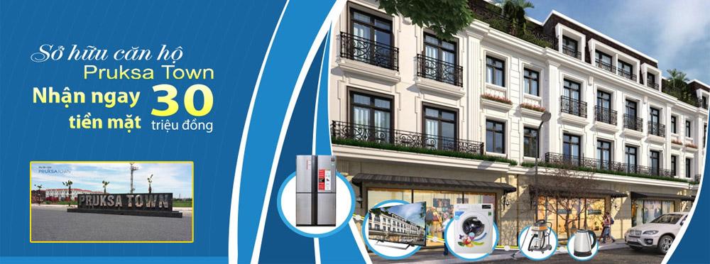 Nhận ngay 30 triệu tiền mặt khi mua căn hộ tại Pruksa Town Hải Phòng