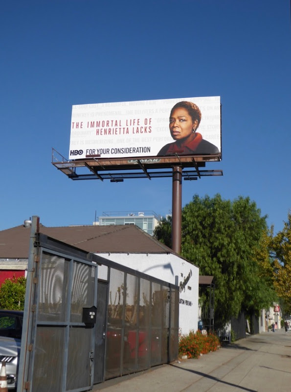 Immortal Henrietta Lacks FYC billboard