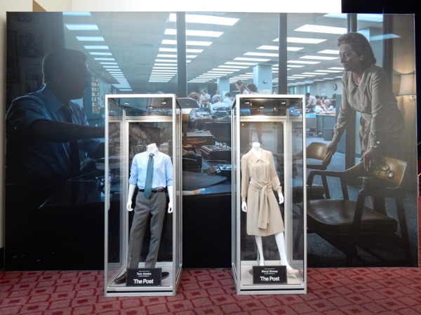 The Post movie costume exhibit