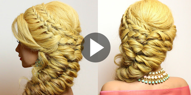 How To Create Mermaid Side Braid Hairstyle