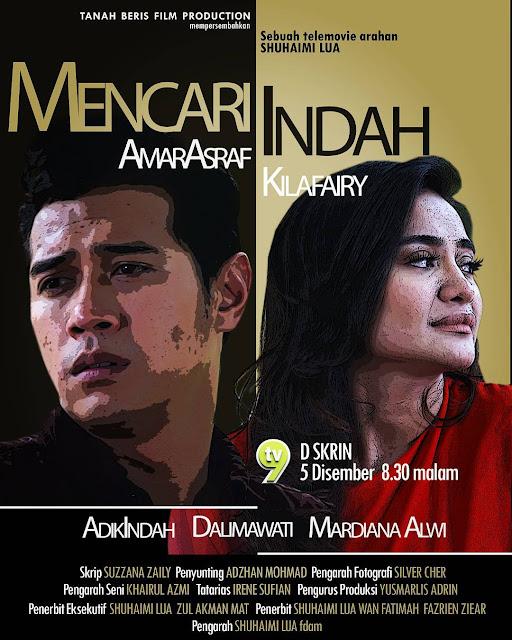Skrin Di 9 Mencari Indah , Lakonan Amar Asyraf Dan Kilafairy
