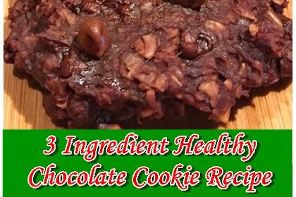 3 Ingredient Healthy Chocolate Cookie Recipe