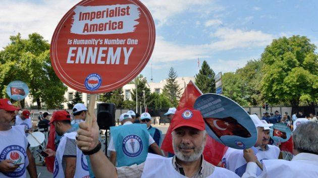 Demo Anti Amerika di Ankara, Turki