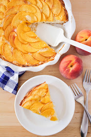 This sweet and delicious peach buttermilk cake is the perfect way to showcase that gorgeous fresh summer fruit!