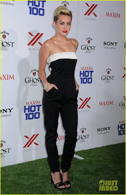 Celeb Diary Miley Cyrus 2013 Maxim Hot 100 Party