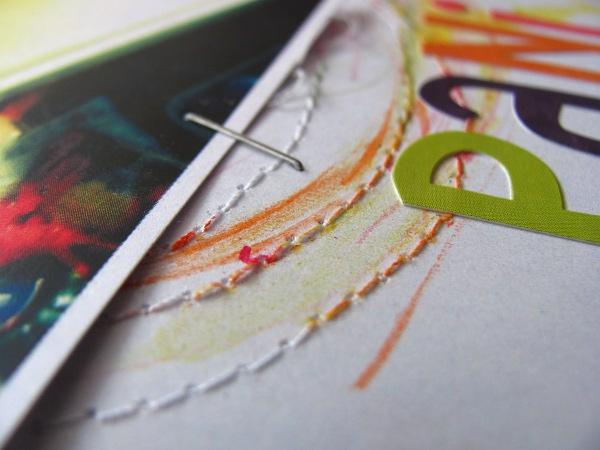 #007 Scrap kolorowany kredkami akwarelowymi