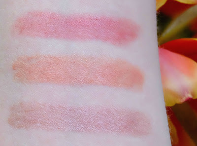 Swatches of Axiology Lipsticks in Attitude, Philosophy & The Goodness