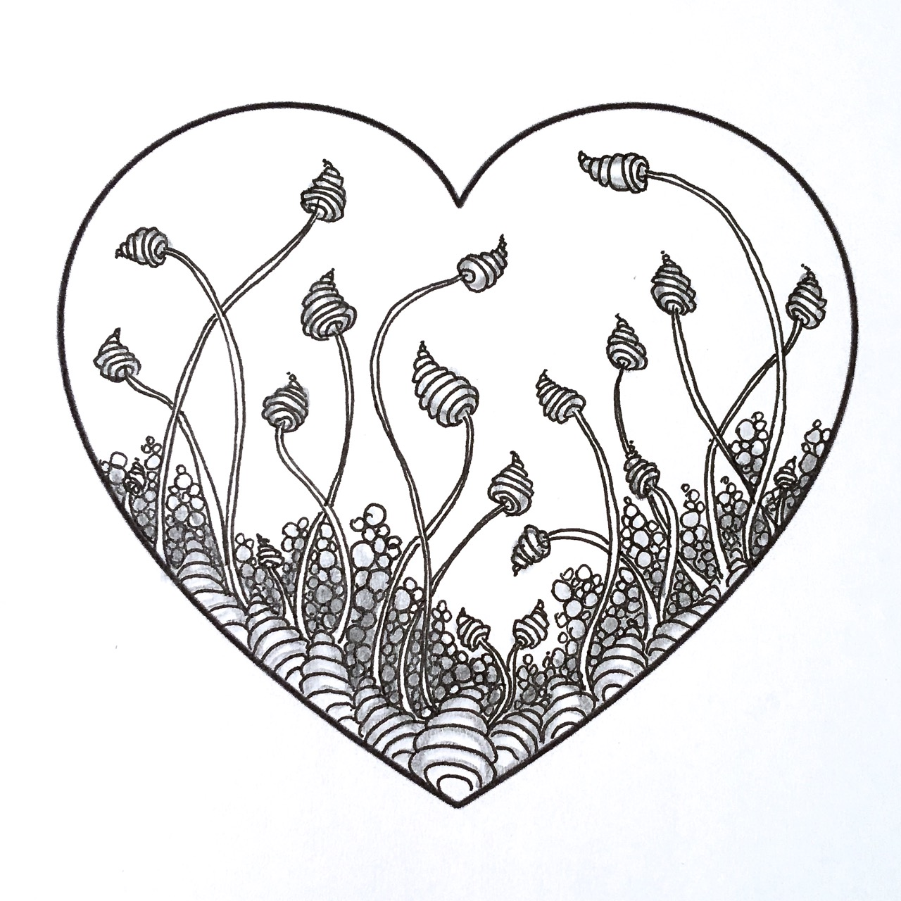 Zentangle Valentine's Heart Series Designs 2016   Always Choose ...