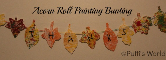 Simple Thanksgiving Bunting - Acorn Roll Painting