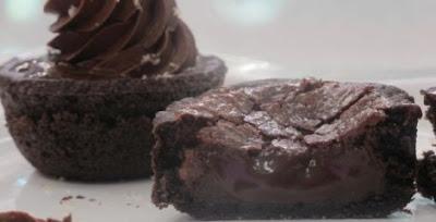 Receita de Tortinha fácil de chocolate