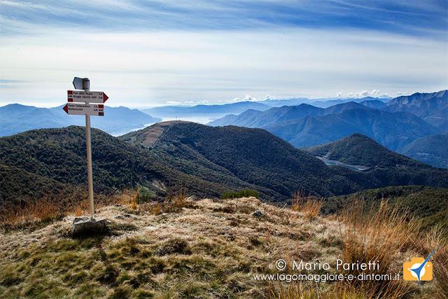 Vista panoramica al bivio del Sasso Torricello