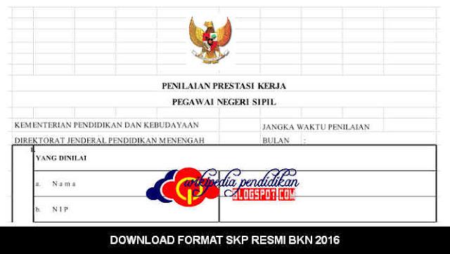 Download FORMAT APLIKASI SKP RESMI BKN 2016