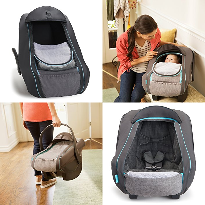 Amazon Has This Brica SmartCover Infant Car Seat Cover On Sale For 1498 Reg 3799 Carseat Dual Layer With Breathable Mesh And