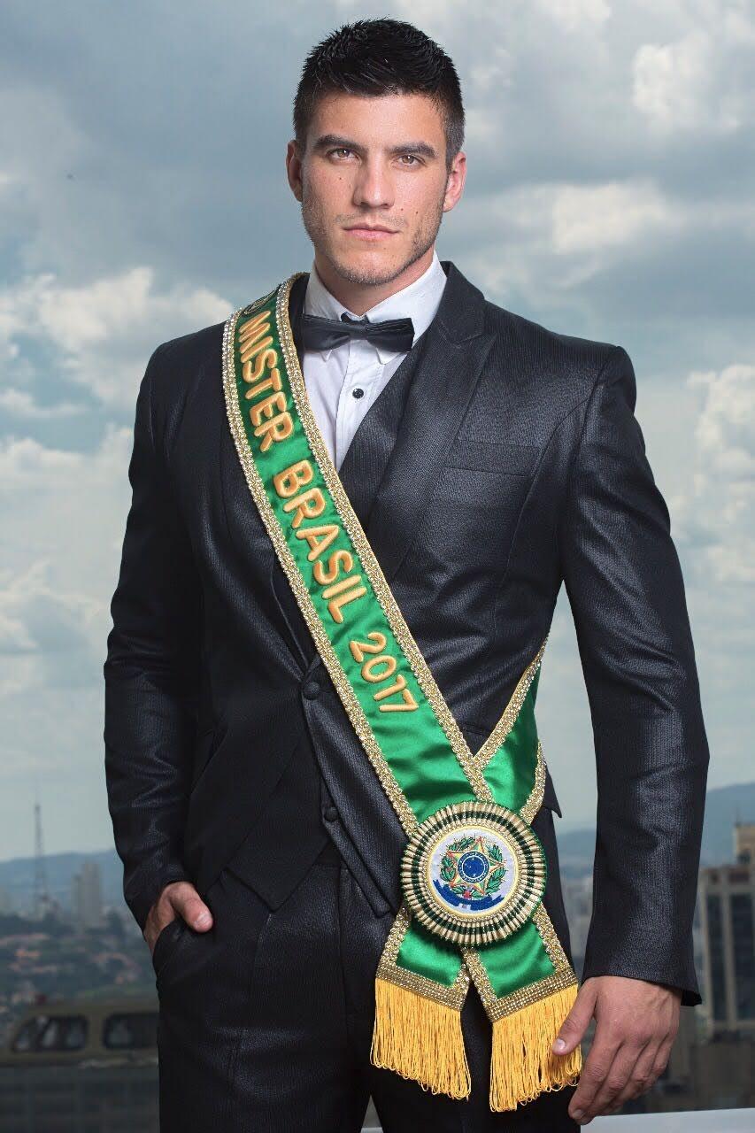 O policial militar Bruno Poczinek, o Mister Brasil 2017. Foto: Ronaldo Gutierrez
