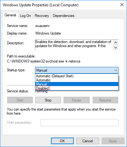 Turn Off Automatic Updates in Windows 10