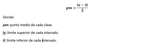 Fórmula Punto medio
