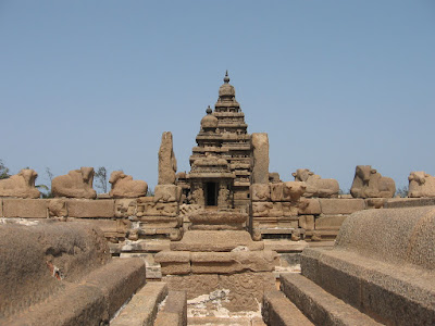 Front view of Shore Temple, Mahabalipuram