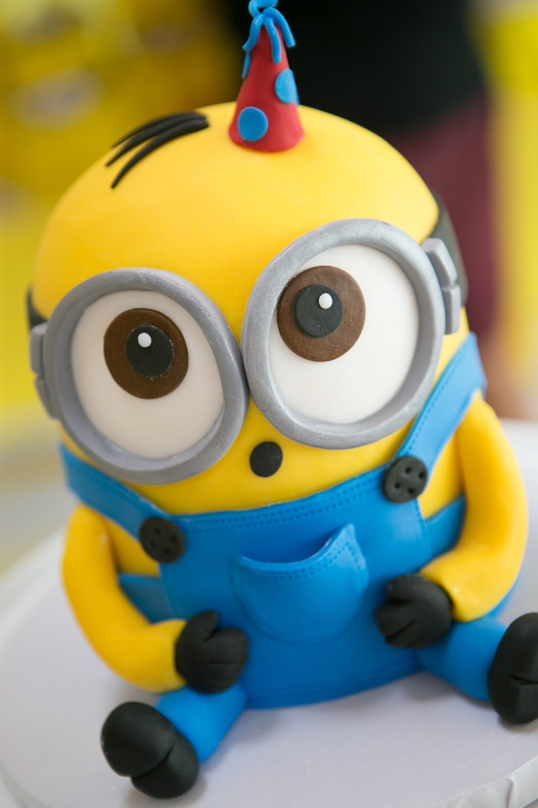 Minion Madness Blue Cupcake