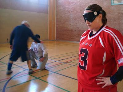 Lisa Czhechowski (Banta) golbolo žaidimo aikštelėje