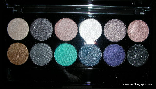 MUA Dusk til Dawn Eyeshadow Palette (with flash)