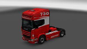 Scania RJL Red Topline Skin