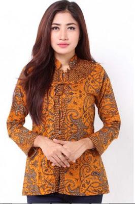 Foto Model Baju Batik Kantor Modern Terbaru