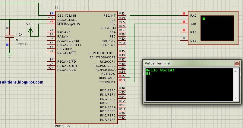 Saeed's Blog: PIC16F877 UART code + Proteus simulation