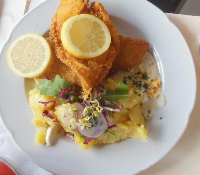 Gasthof zur Waldbahn, Zwiesel, fried fish