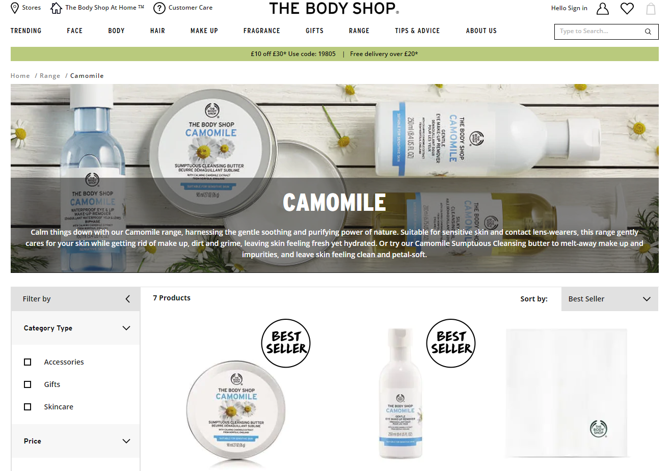 Ingredient Review: The Body Shop NEW Camomile Range