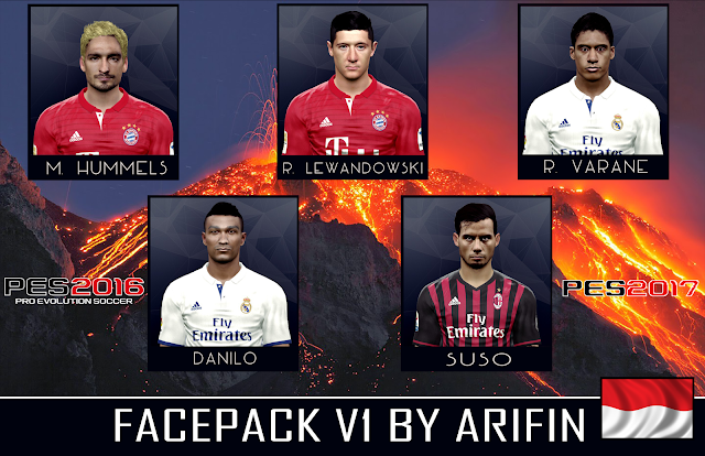 update face pes 2017 terbaru Facepack v1 By Arifin