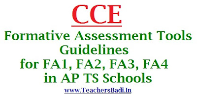 CCE,Formative Assessment Tools,Guidelines