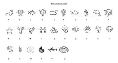 Sea Creature Substitution Alphabet