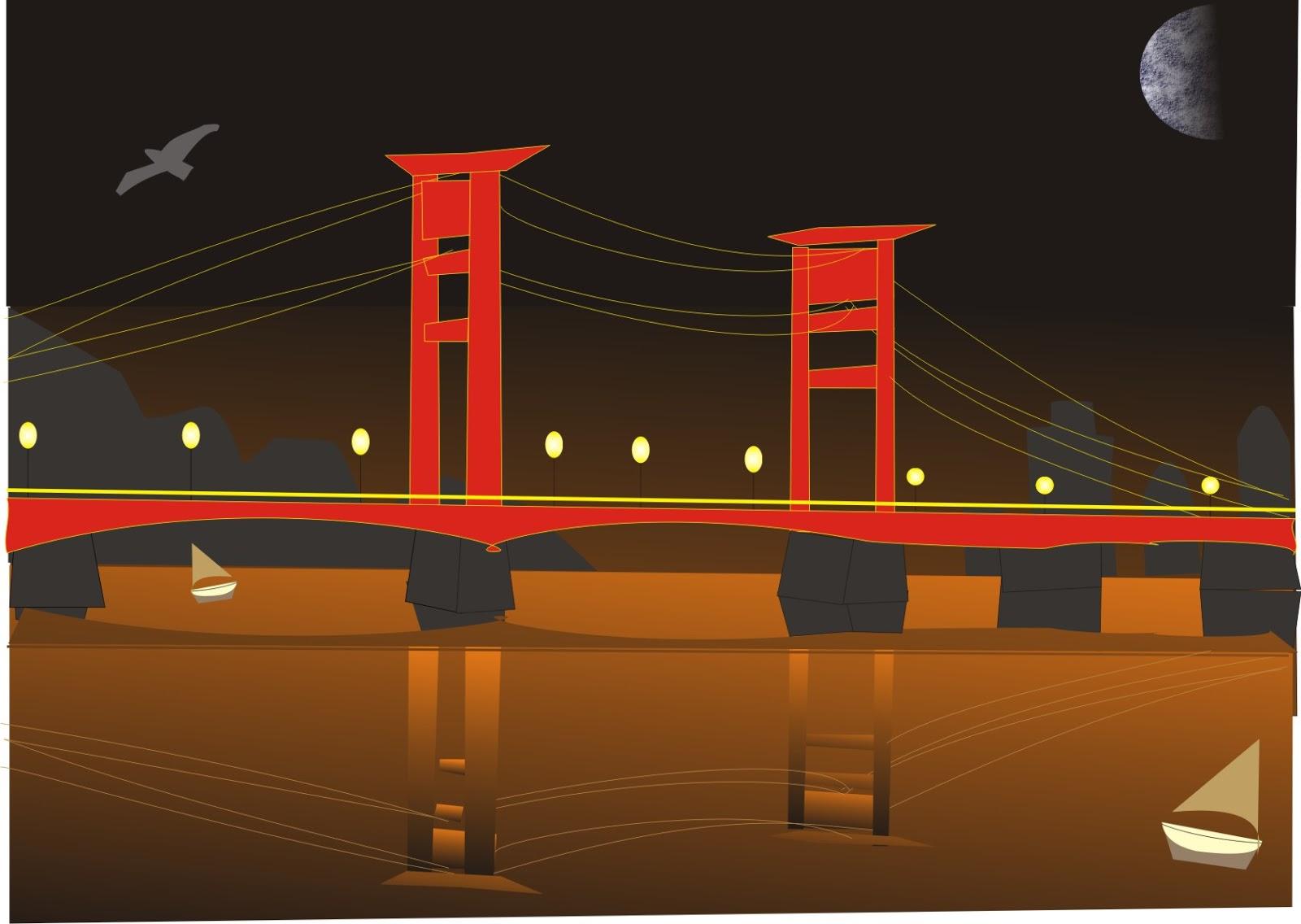Tutorial Membuat Jembatan Ampera Menggunakan CorelDRAW