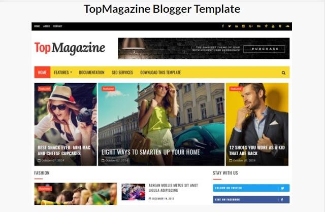 TopMagazine Blogger Template