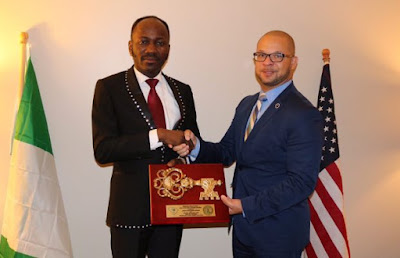 Apostle Suleman gets honorary citizenship in US