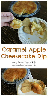 Caramel Apple Cheesecake Dip - easy, no-bake dessert #AppleWeek #sponsored