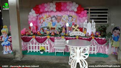Decoração tema Princesas Disney Baby - festa infantil