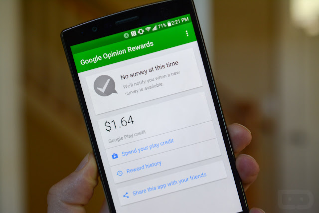 الربح من استطلاع الرأي من خلال جهاز الهاتف طريقة سهله للربح من برنامج google opinion rewards