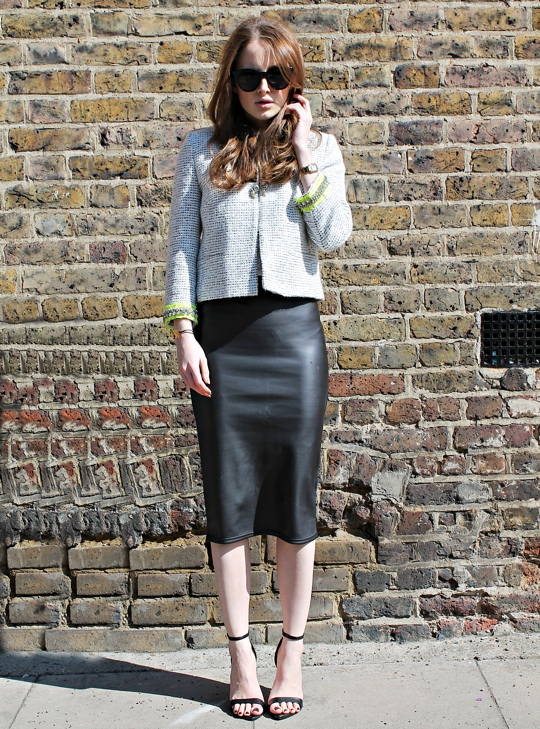 Boucle, Embellished, Grey, Jacket, Made In Chelsea, MIC, Neon,  River Island, Rosie Fortescue, White, Yellow