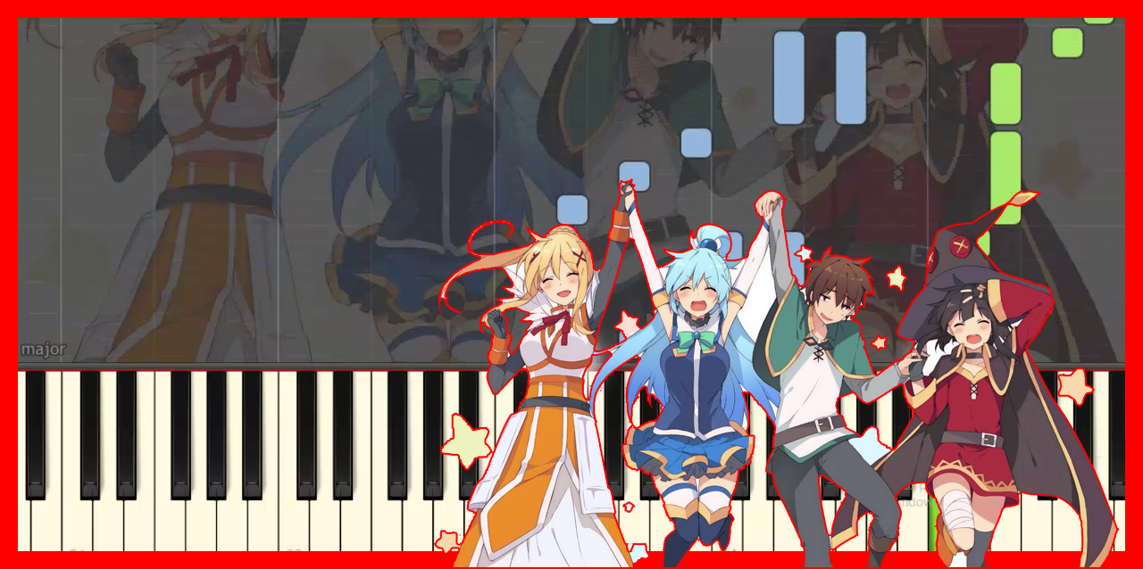 Konosuba - Chiisana Boukensha-anime piano cover-(Synthesia