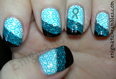 Polycystic-ovary-syndrome-awareness-nails-nail-art-stamped-PCOS