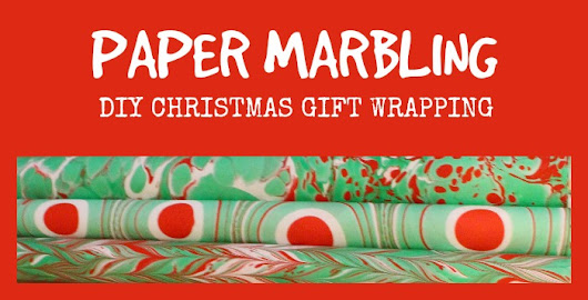 Paper Marbling - DIY Christmas Gift Wrapping