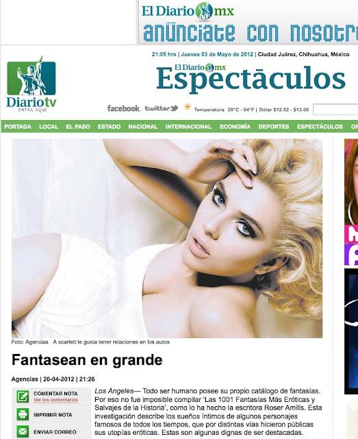 Los Angeles | Nota sobre 'Las 1.001 fantasías' de Roser Amills en El Diario MX