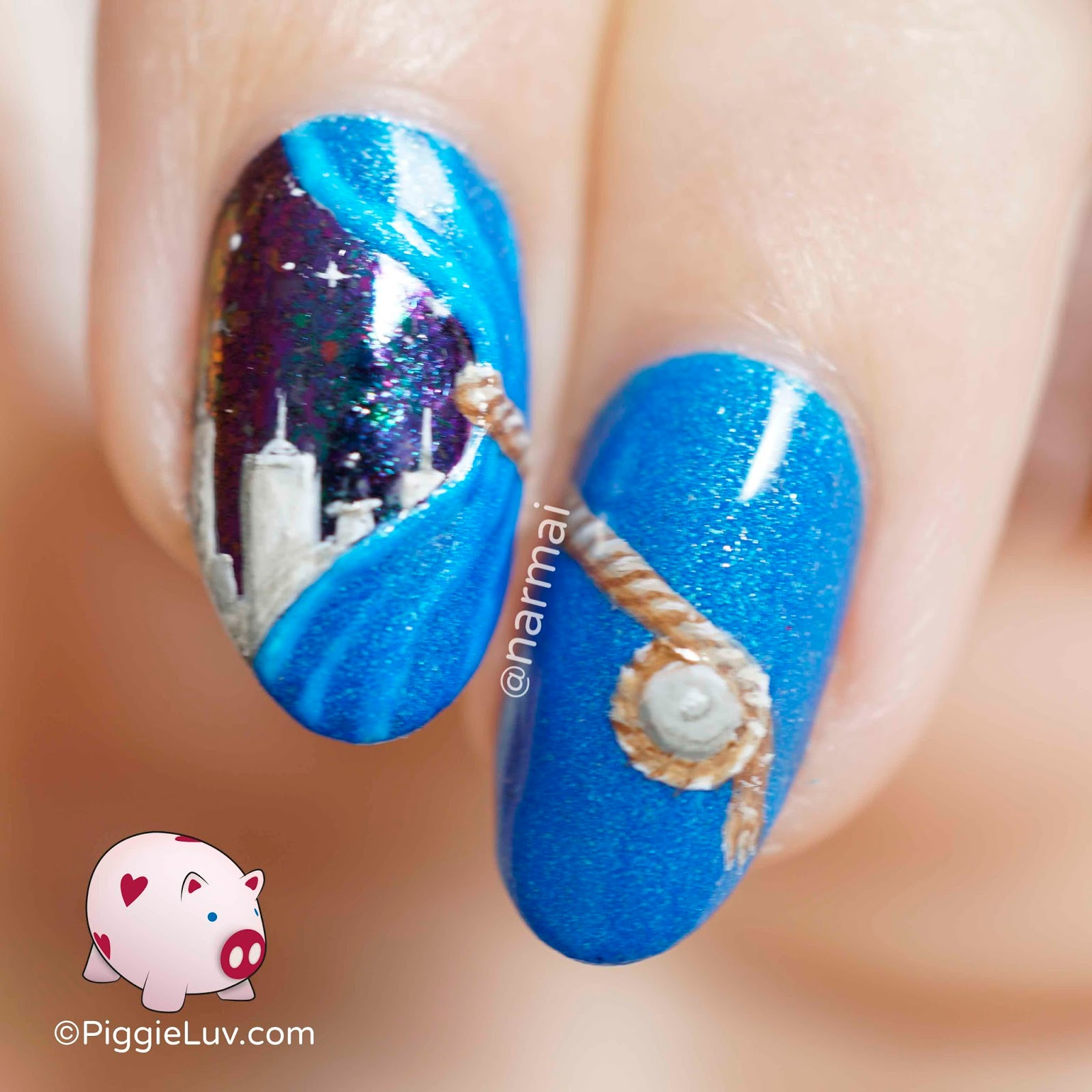 Piggieluv 3d Pull The Curtain Nail Art: PiggieLuv: Into Another Dimension Nail Art